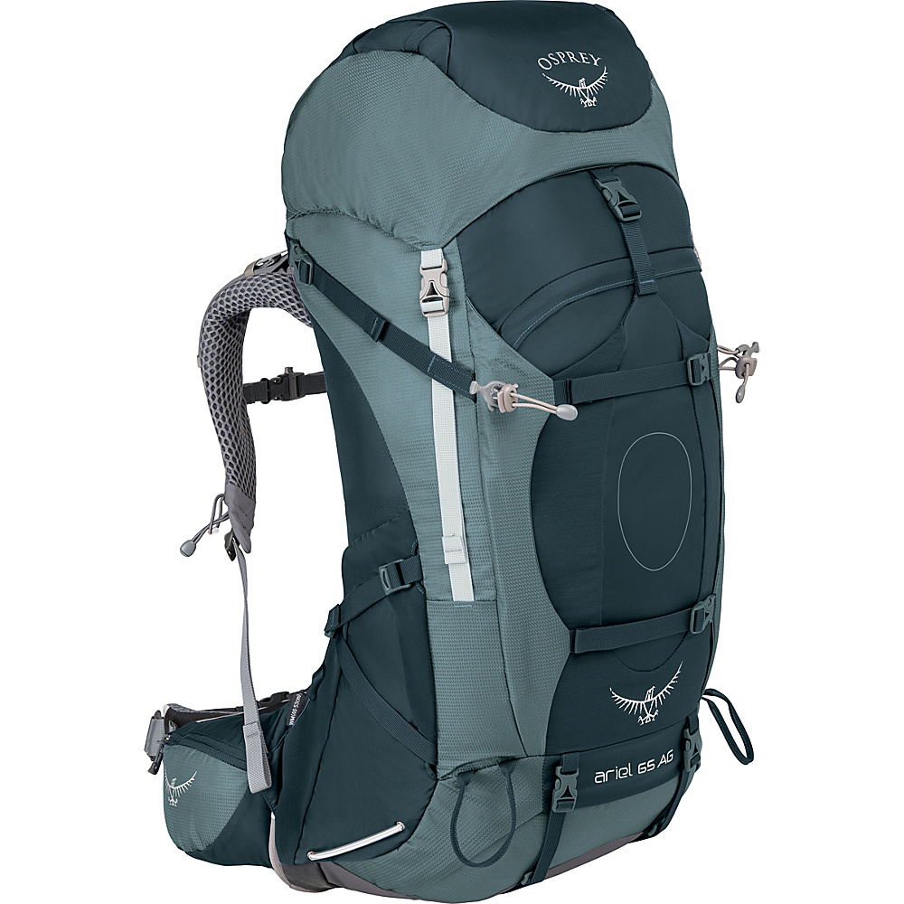 Osprey Womens Ariel AG 65 Hiking Pack Boothbay Grey – WL - Osprey Backpacking Packs - Outdoor, Backpacking Packs