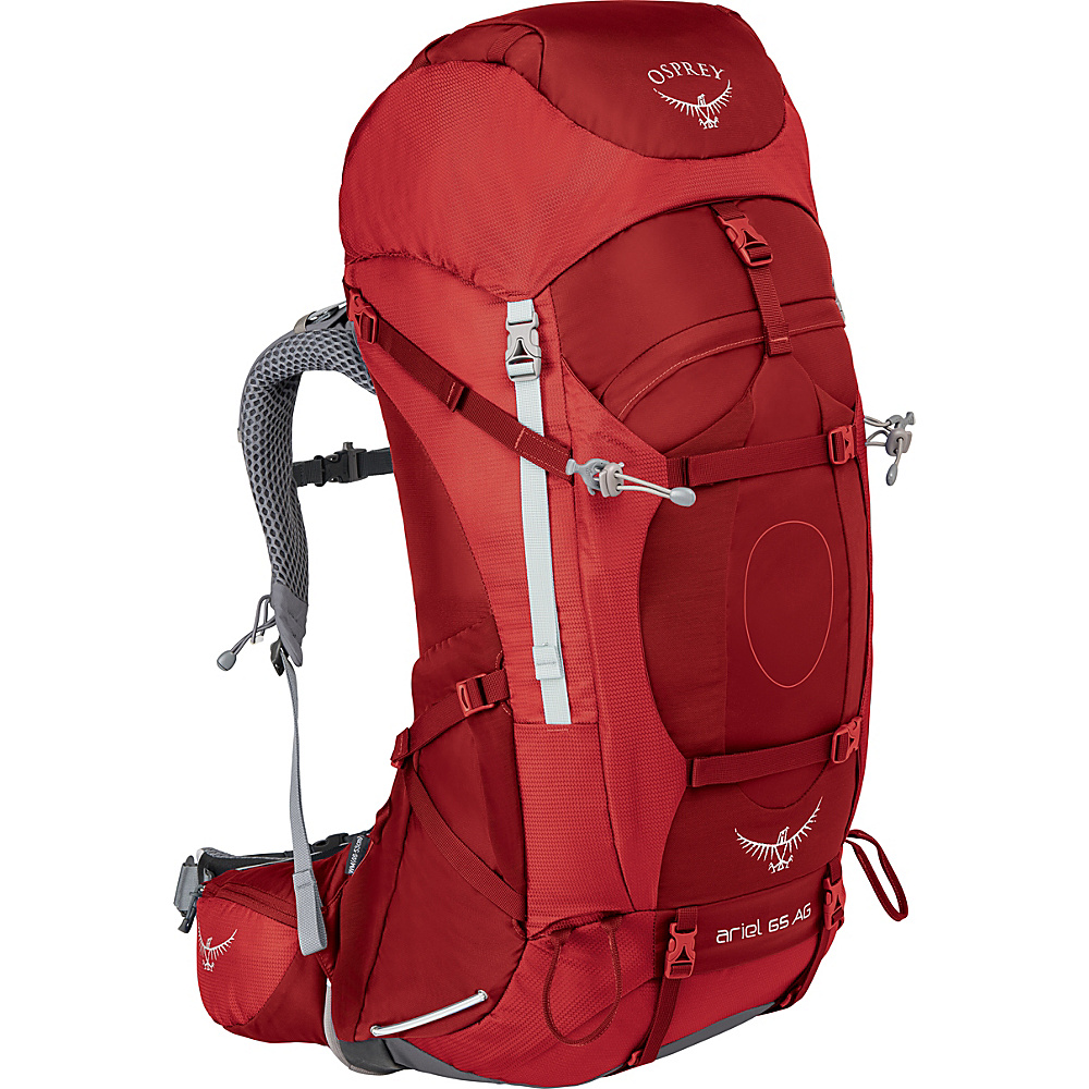 Osprey Womens Ariel AG 65 Hiking Pack Picante Red – WL - Osprey Backpacking Packs - Outdoor, Backpacking Packs