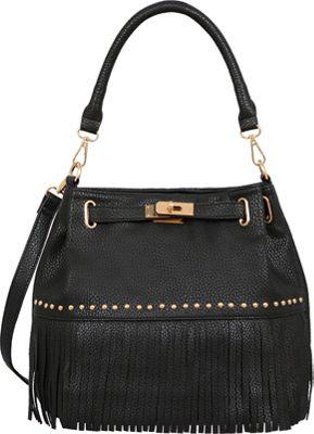 Mellow World Lorraine Shoulder Bag Black - Mellow World Manmade Handbags