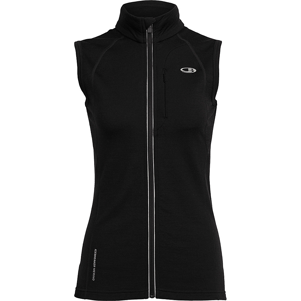 Icebreaker Womens Quantum Vest XS - Black - Icebreaker Womens Apparel - Apparel & Footwear, Women's Apparel