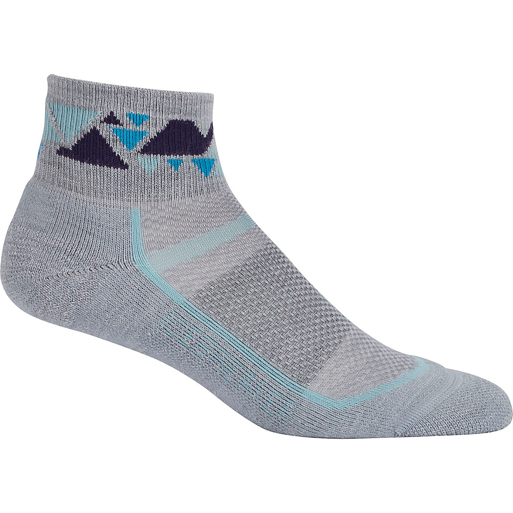 Icebreaker Womens Multisport Light Mini Sock S - Blizzard Heather/Teardrop - Icebreaker Womens Legwear/Socks - Apparel & Footwear, Women's Legwear/Socks
