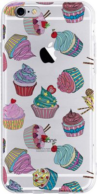 Candywirez Clear Case for iPhone 6S Cupcakes - Candywirez Electronic Cases