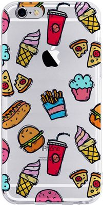 Candywirez Clear Case for iPhone 6S Fastfood - Candywirez Electronic Cases