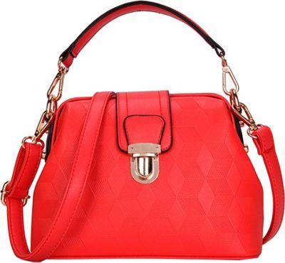 SW Global Auburn Satchel Red - SW Global Manmade Handbags