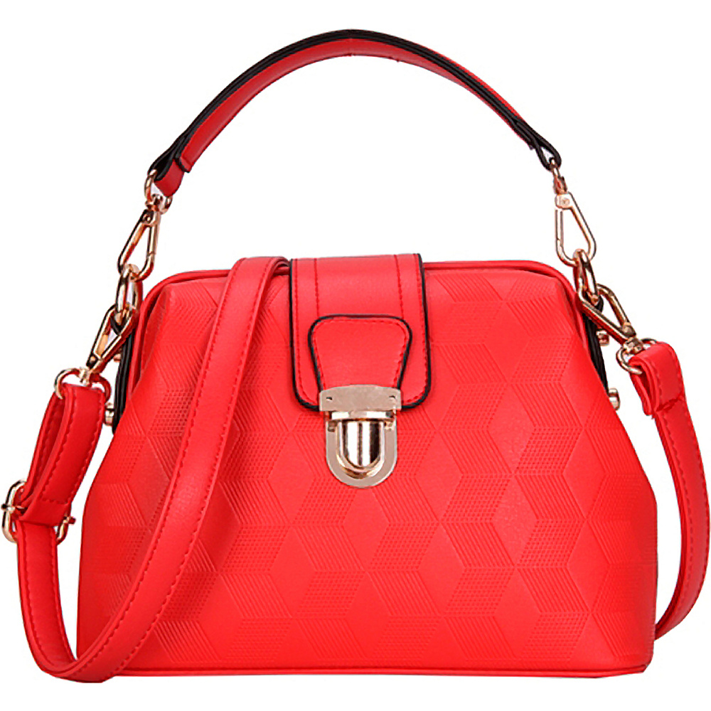 SW Global Auburn Satchel Red - SW Global Manmade Handbags - Handbags, Manmade Handbags