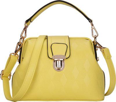 SW Global Auburn Satchel Yellow - SW Global Manmade Handbags