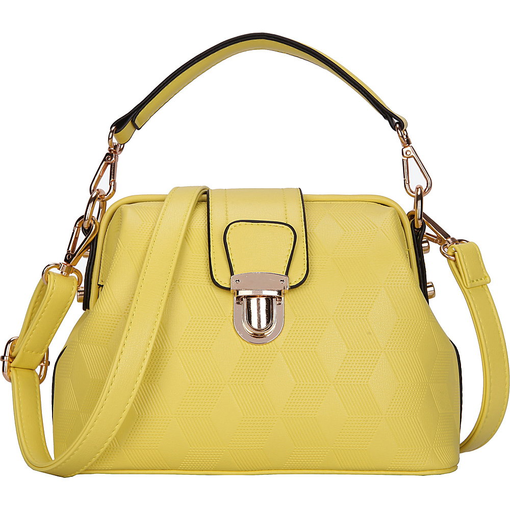 SW Global Auburn Satchel Yellow - SW Global Manmade Handbags - Handbags, Manmade Handbags