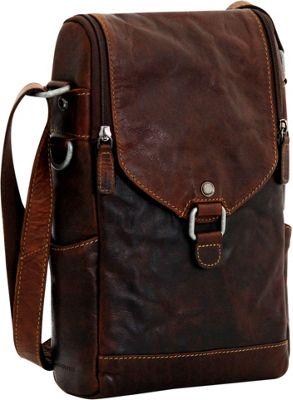 Jack Georges Voyager Crossbody/Wine Bag Brown - Jack Georges Leather Handbags