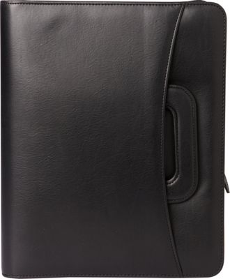 Franklin Covey Monarch Size Secure Zip-Around 7-Ring Binder / Planner with Hidden Pull Out Sliding Handles Black - Franklin Covey Business Accessories