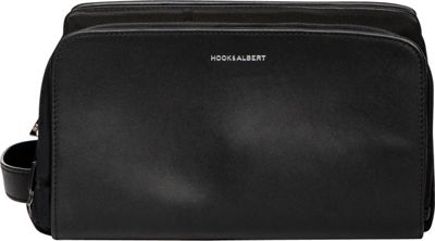 Hook & Albert Leather Travel Toiletry Kit Black - Hook & Albert Toiletry Kits