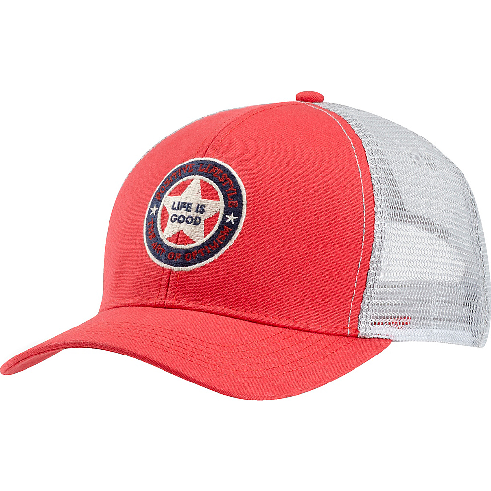 Life is good Mesh Back Chill Positive Lifestyle One Size - Americana Red - Life is good Hats - Fashion Accessories, Hats
