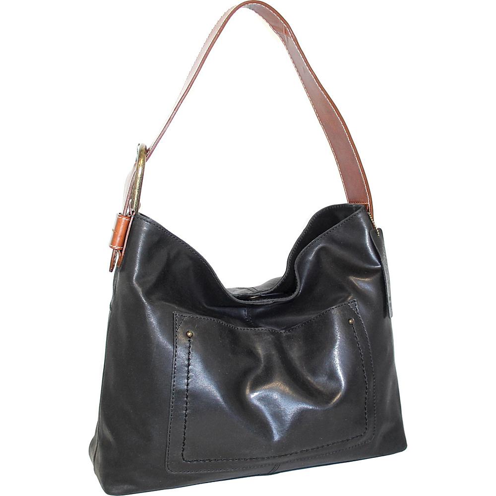 Nino Bossi Lexis Leather Hobo Black - Nino Bossi Leather Handbags - Handbags, Leather Handbags