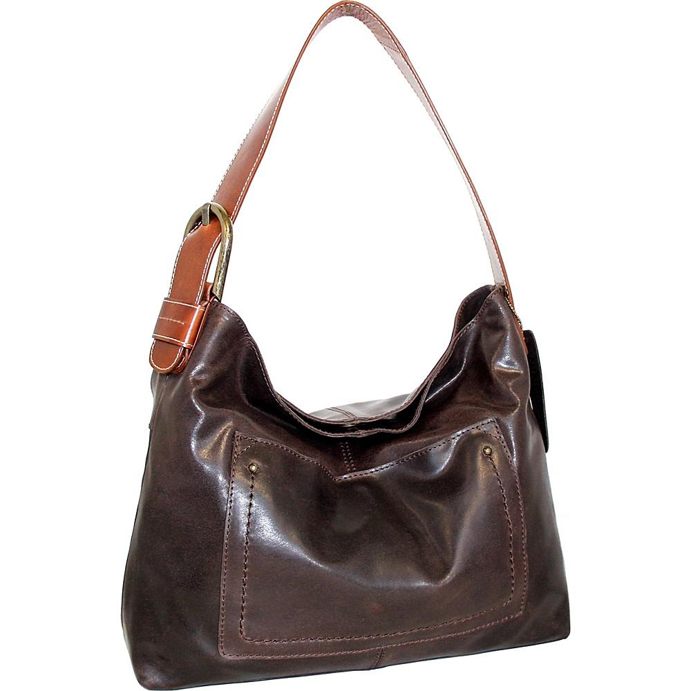 Nino Bossi Lexis Leather Hobo Chocolate - Nino Bossi Leather Handbags - Handbags, Leather Handbags