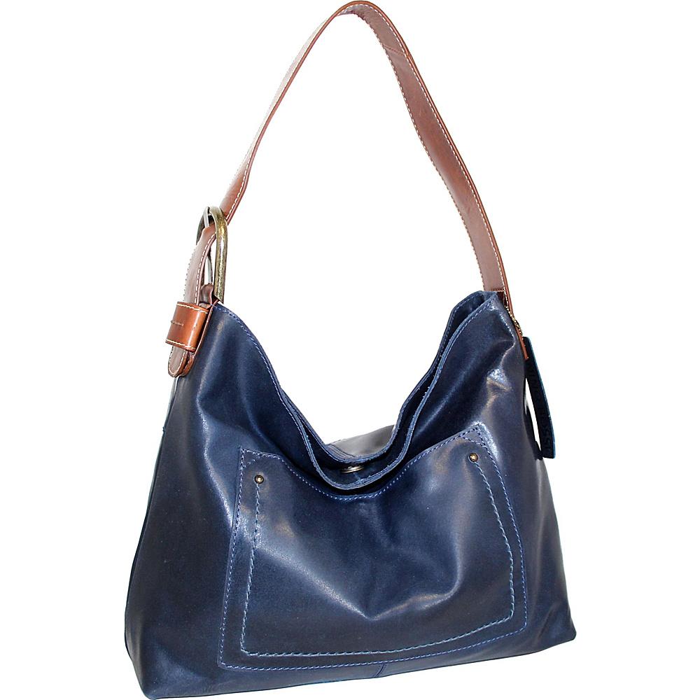 Nino Bossi Lexis Leather Hobo Denim - Nino Bossi Leather Handbags - Handbags, Leather Handbags