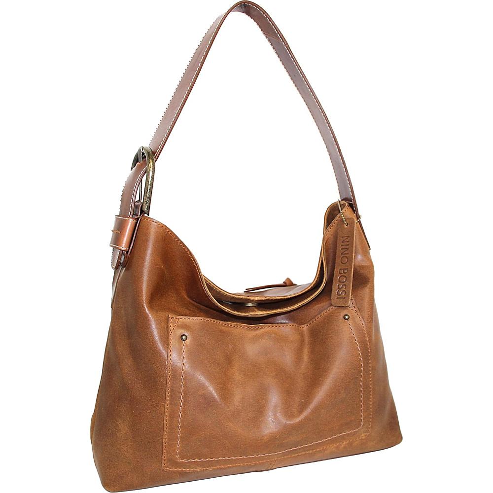 Nino Bossi Lexis Leather Hobo Saddle - Nino Bossi Leather Handbags - Handbags, Leather Handbags