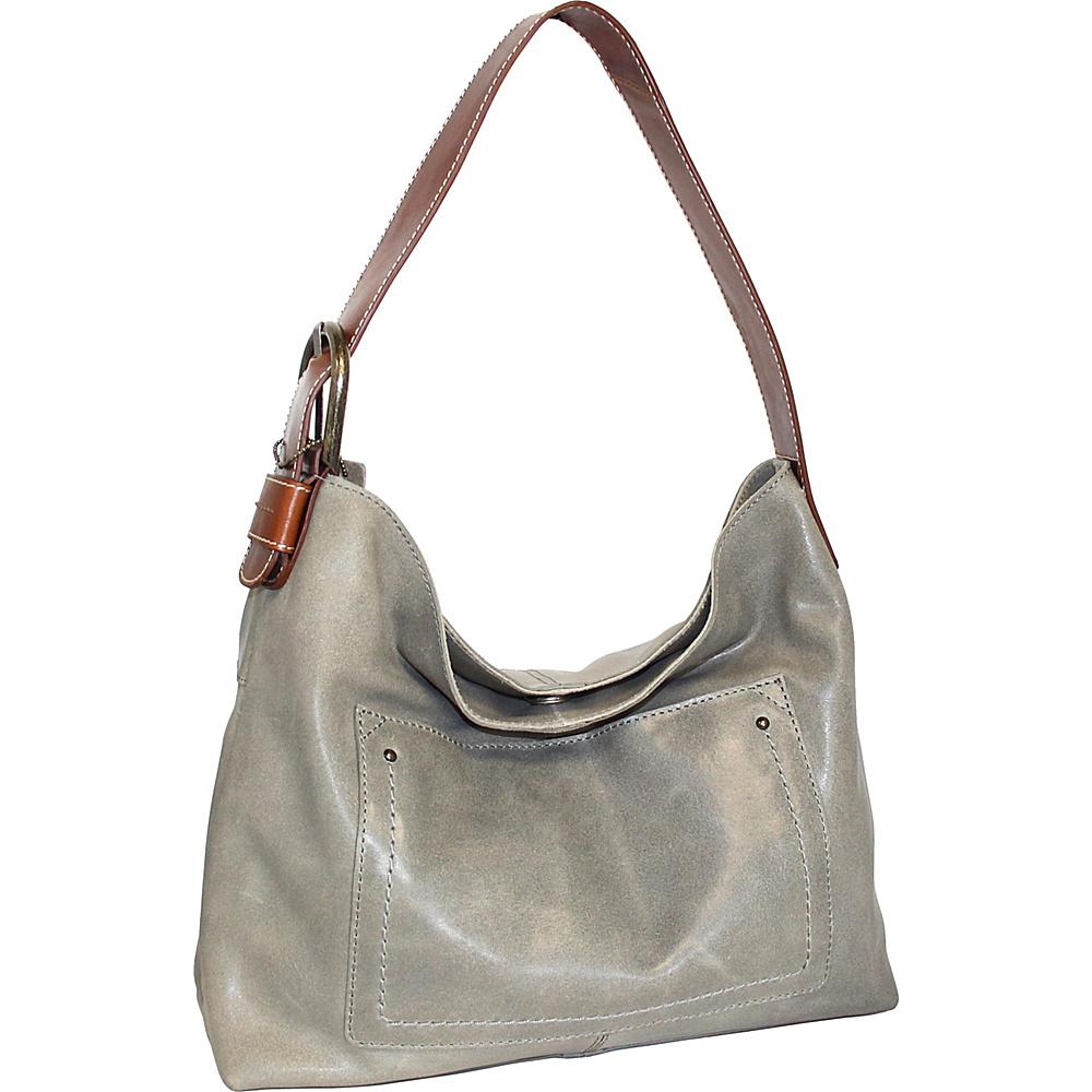 Nino Bossi Lexis Leather Hobo Stone - Nino Bossi Leather Handbags - Handbags, Leather Handbags