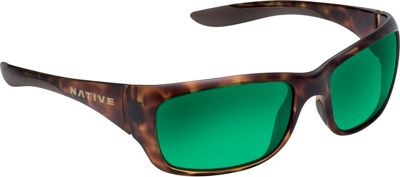 Native Eyewear Kannah Sunglasses Desert Tort with Polarized Green Reflex - Native Eyewear Eyewear
