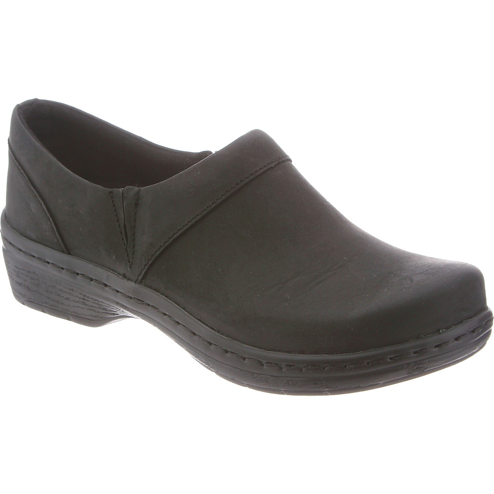 KLOGS Footwear Womens Mission 7 - W (Wide) - Black Oiled - KLOGS Footwear Womens Footwear - Apparel & Footwear, Women's Footwear