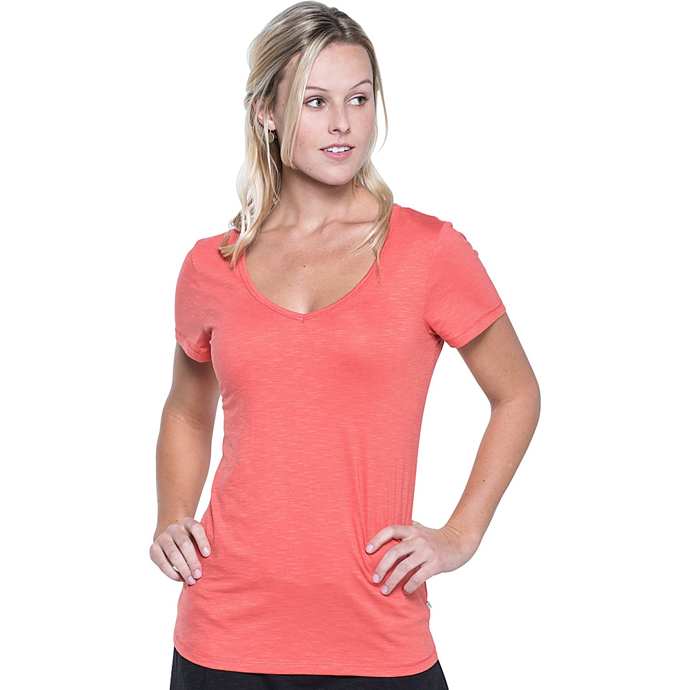 Toad & Co Marley Short Sleeve Tee XS - Spiced Coral - Toad & Co Womens Apparel - Apparel & Footwear, Women's Apparel