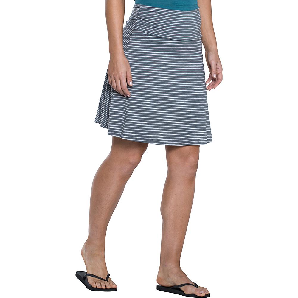 Toad & Co Chaka Skirt M - Smoke Lean Stripe - Toad & Co Womens Apparel - Apparel & Footwear, Women's Apparel