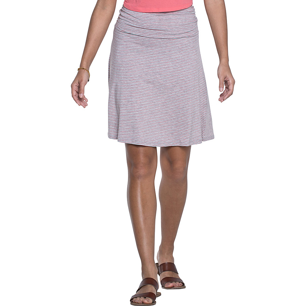 Toad & Co Chaka Skirt XS - Heather Grey Stripe - Toad & Co Womens Apparel - Apparel & Footwear, Women's Apparel