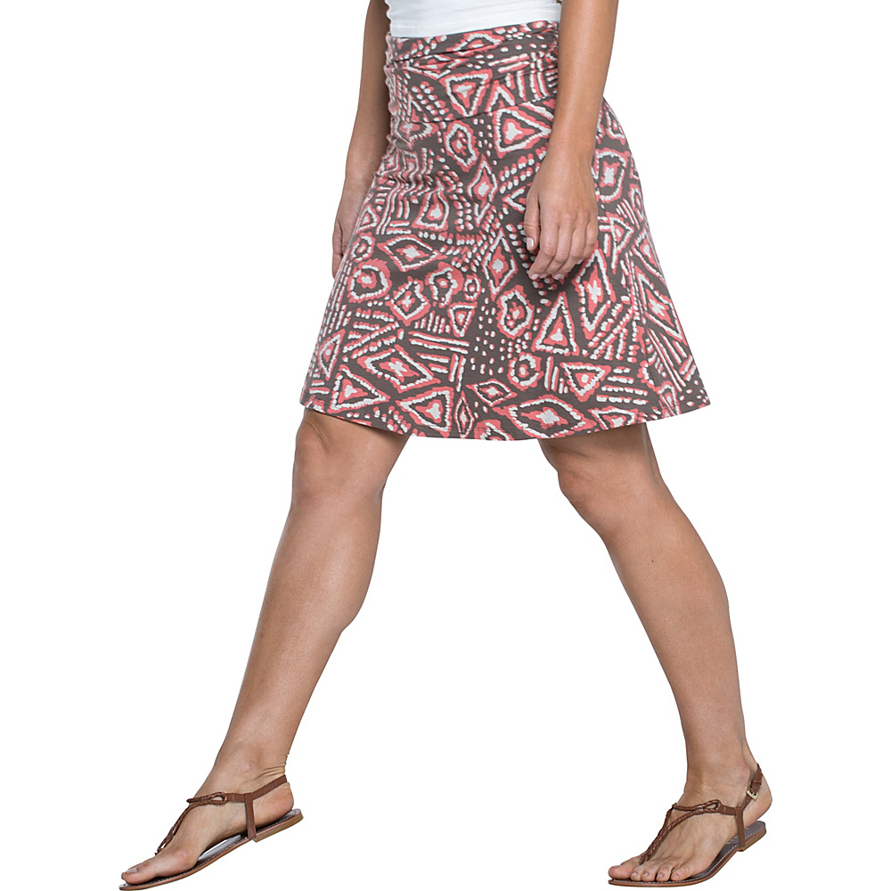 Toad & Co Chaka Skirt S - Falcon Brown Brush Print - Toad & Co Womens Apparel - Apparel & Footwear, Women's Apparel