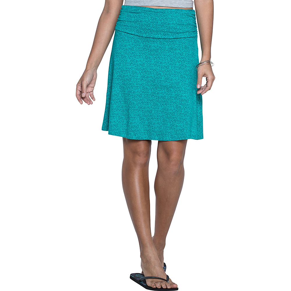Toad & Co Chaka Skirt S - Turquoise Cove Geo Print - Toad & Co Womens Apparel - Apparel & Footwear, Women's Apparel