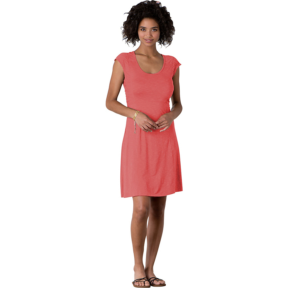 Toad & Co Sama Sama Dress M - Spiced Coral - Toad & Co Womens Apparel - Apparel & Footwear, Women's Apparel
