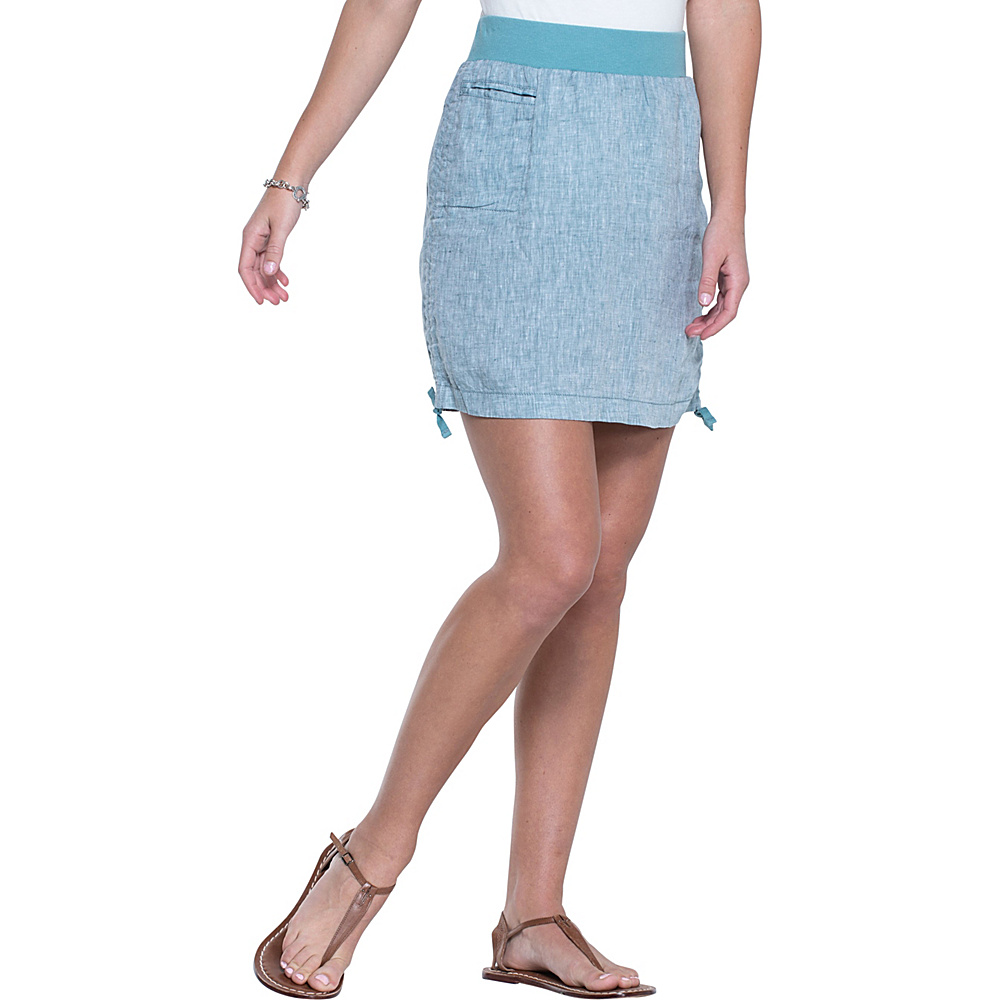 Toad & Co Lina Adjustable Skirt XS - Hydro - Toad & Co Womens Apparel - Apparel & Footwear, Women's Apparel