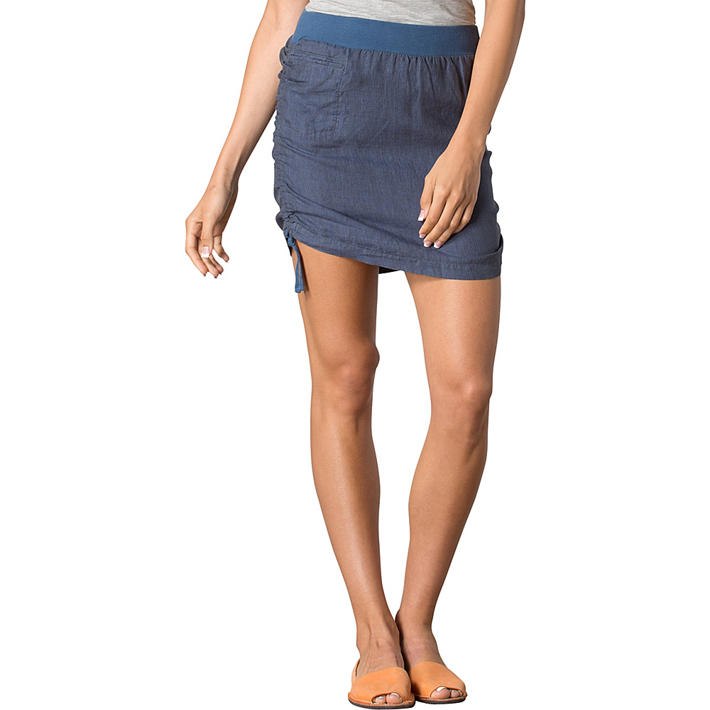 Toad & Co Lina Adjustable Skirt L - Indigo - Toad & Co Womens Apparel - Apparel & Footwear, Women's Apparel