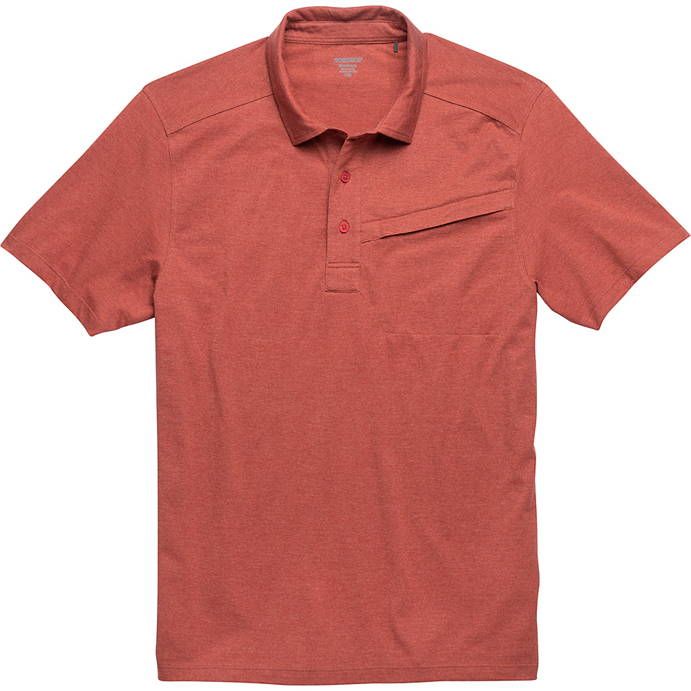 Toad & Co Motile Short Sleeve Polo S - Red Clay - Toad & Co Mens Apparel - Apparel & Footwear, Men's Apparel