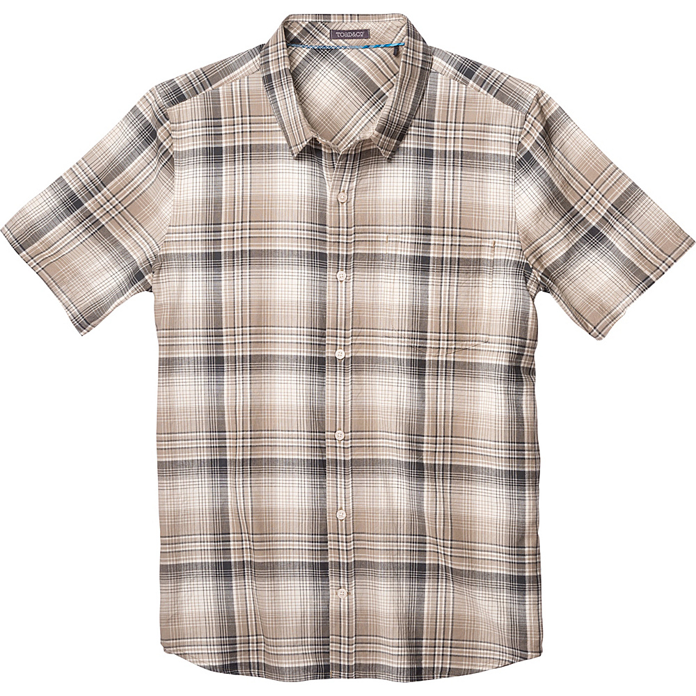 Toad & Co Coolant Short Sleeve Shirt L - Dark Chino - Toad & Co Mens Apparel - Apparel & Footwear, Men's Apparel