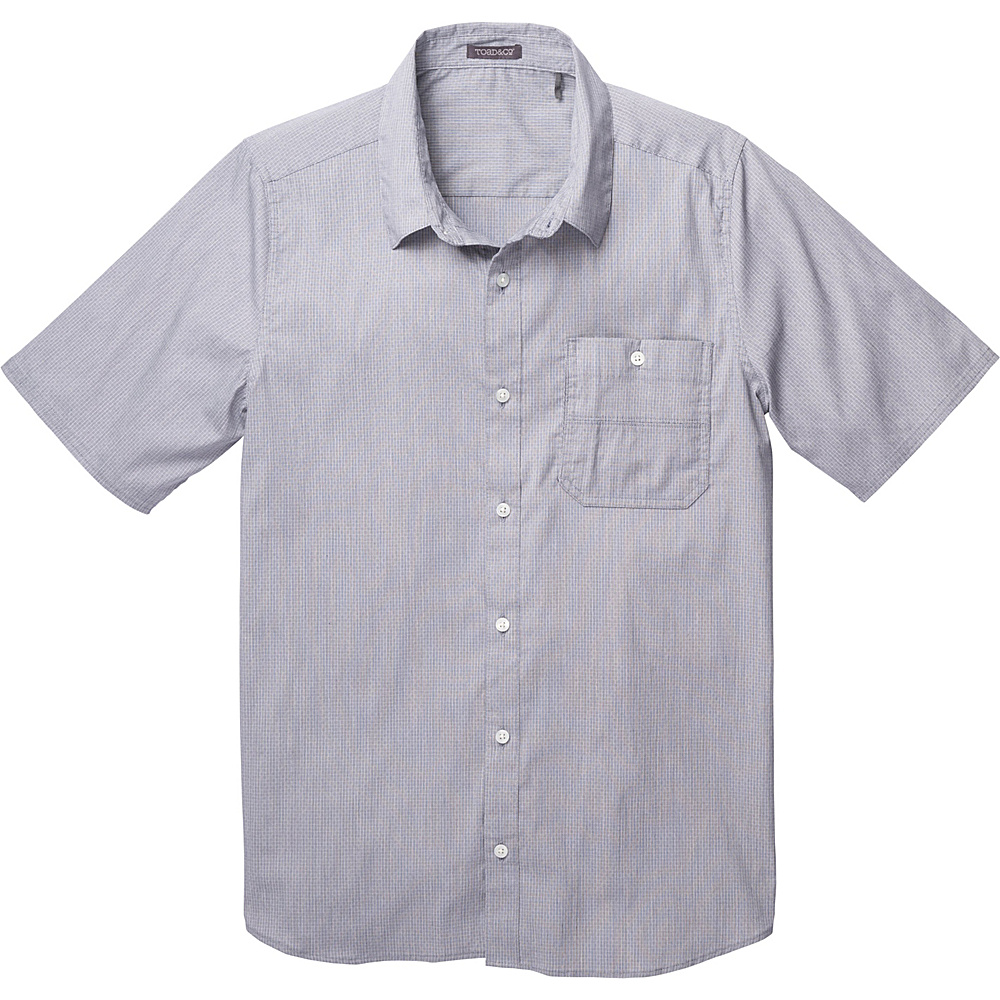 Toad & Co Panorama Chambray Short Sleeve Shirt XXL - Deep Navy - Toad & Co Mens Apparel - Apparel & Footwear, Men's Apparel