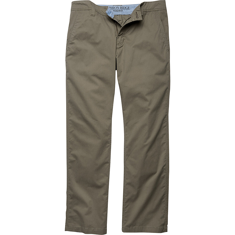 Toad & Co Mission Ridge Pant 31 - 32in - Dark Chino - Toad & Co Mens Apparel - Apparel & Footwear, Men's Apparel
