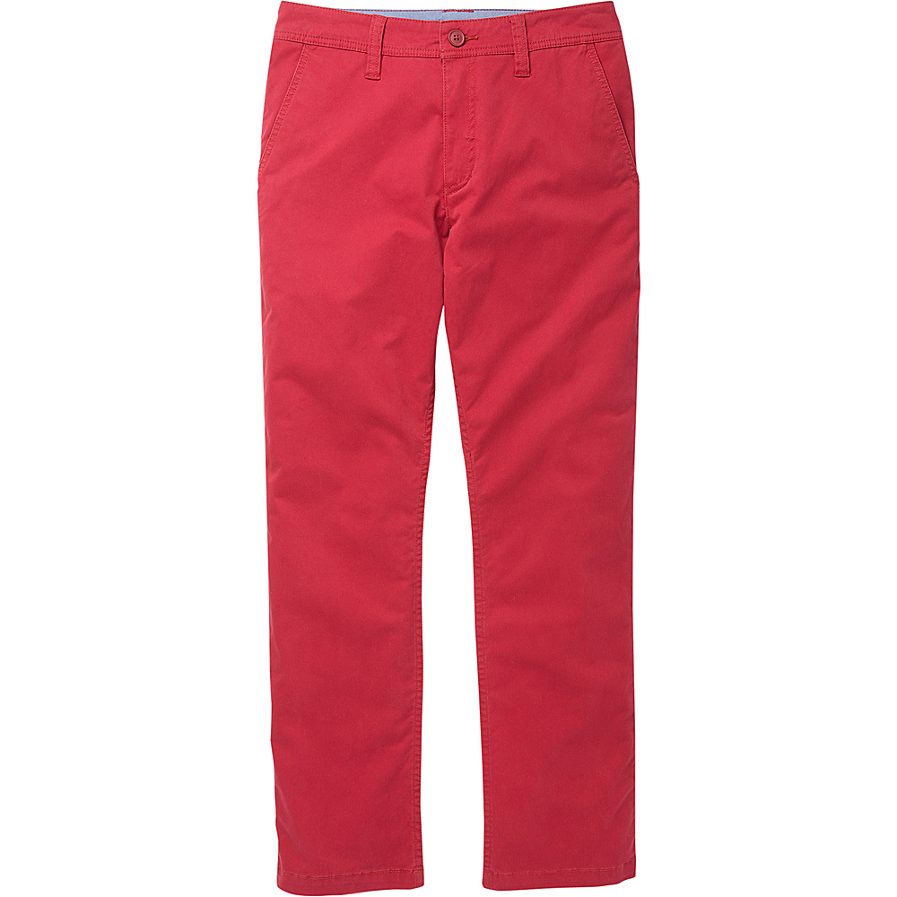 Toad & Co Mission Ridge Pant 33 - 30in - Brick Red - Toad & Co Mens Apparel - Apparel & Footwear, Men's Apparel
