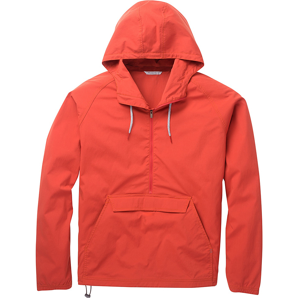 Toad & Co Trekker Anorak M - Red Clay - Toad & Co Mens Apparel - Apparel & Footwear, Men's Apparel