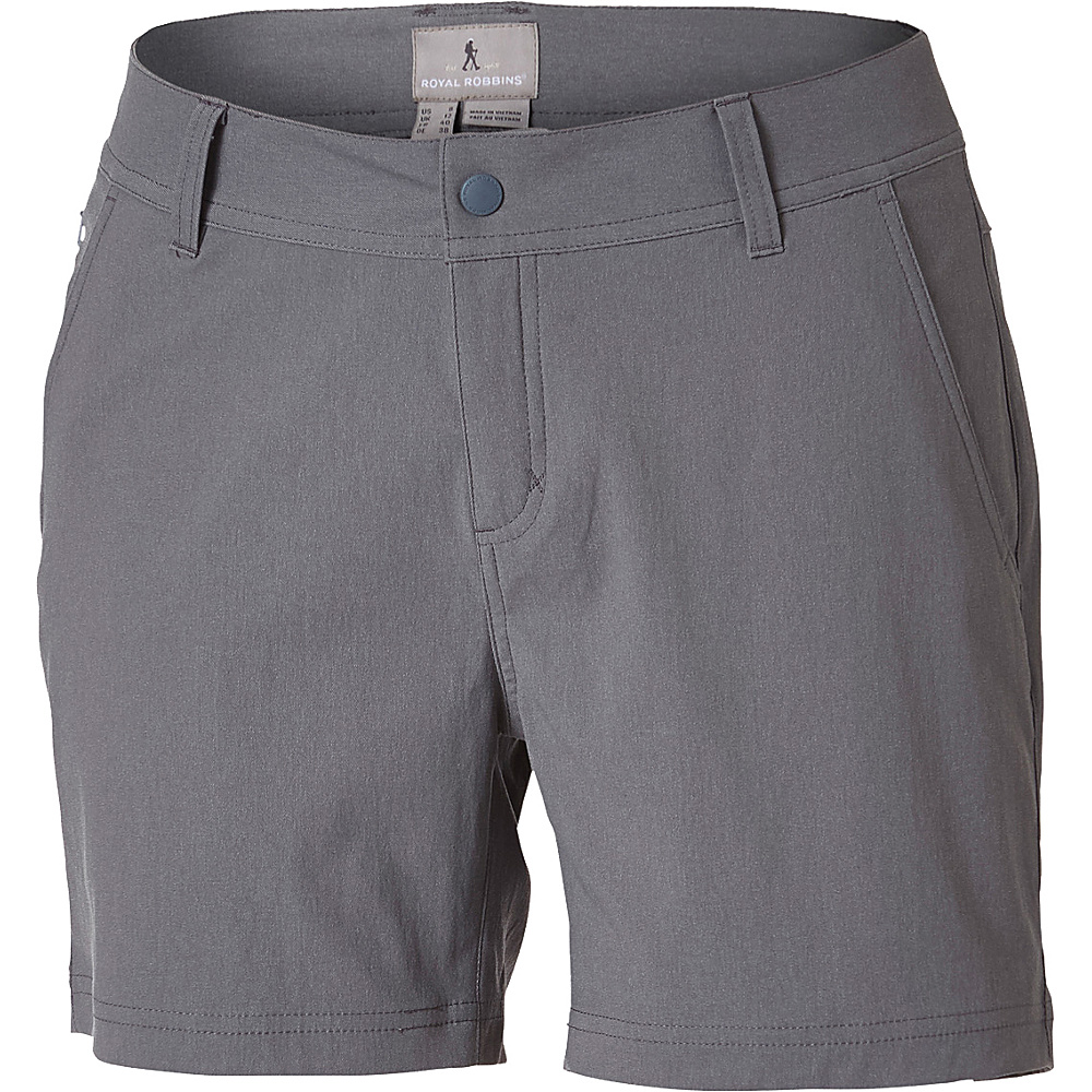 Royal Robbins Womens Alpine Road Short 10 - 5in - Pewter - Royal Robbins Womens Apparel - Apparel & Footwear, Women's Apparel