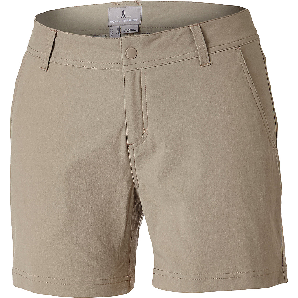 Royal Robbins Womens Alpine Road Short 12 - 9in - Khaki - Royal Robbins Womens Apparel - Apparel & Footwear, Women's Apparel