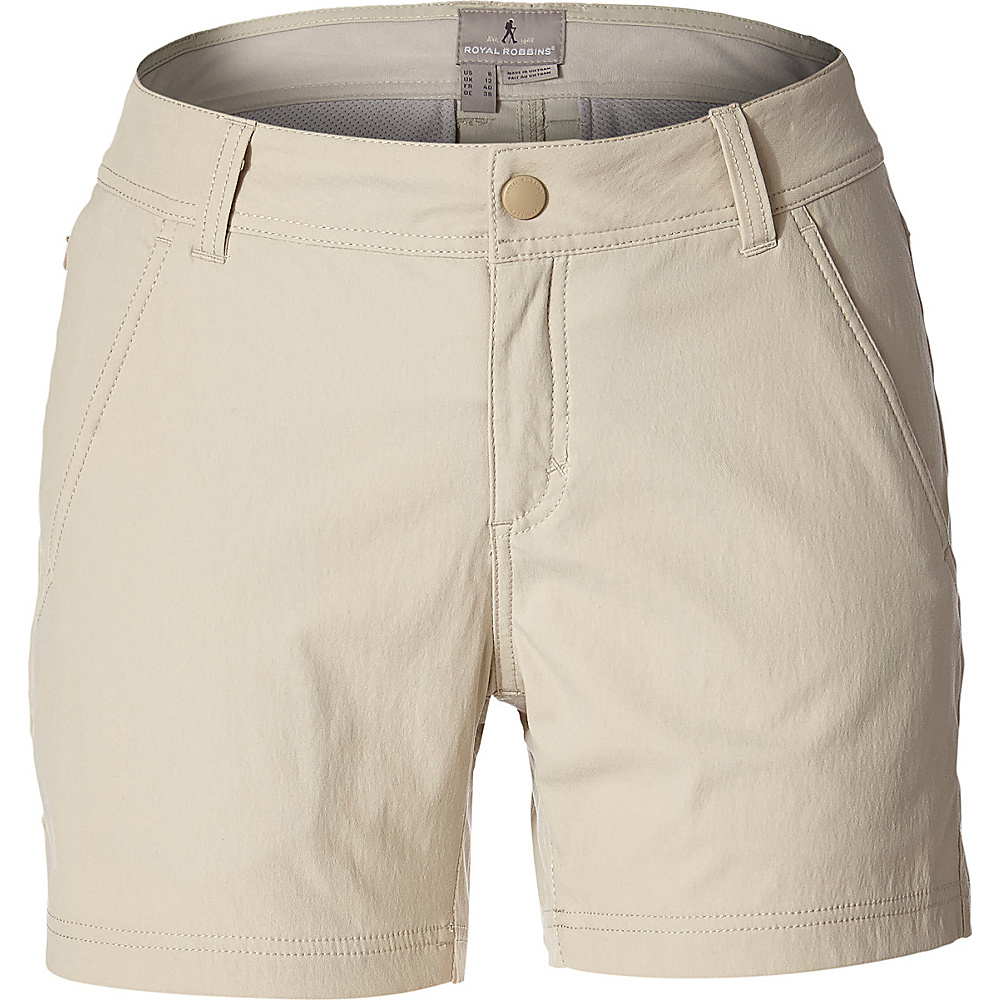 Royal Robbins Womens Alpine Road Short 2 - 9in - Sandstone - Royal Robbins Womens Apparel - Apparel & Footwear, Women's Apparel