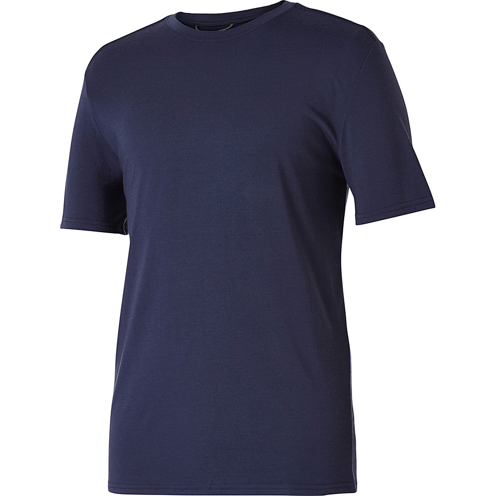 Royal Robbins Mens Merinolux Tee XL - Navy - Royal Robbins Mens Apparel - Apparel & Footwear, Men's Apparel