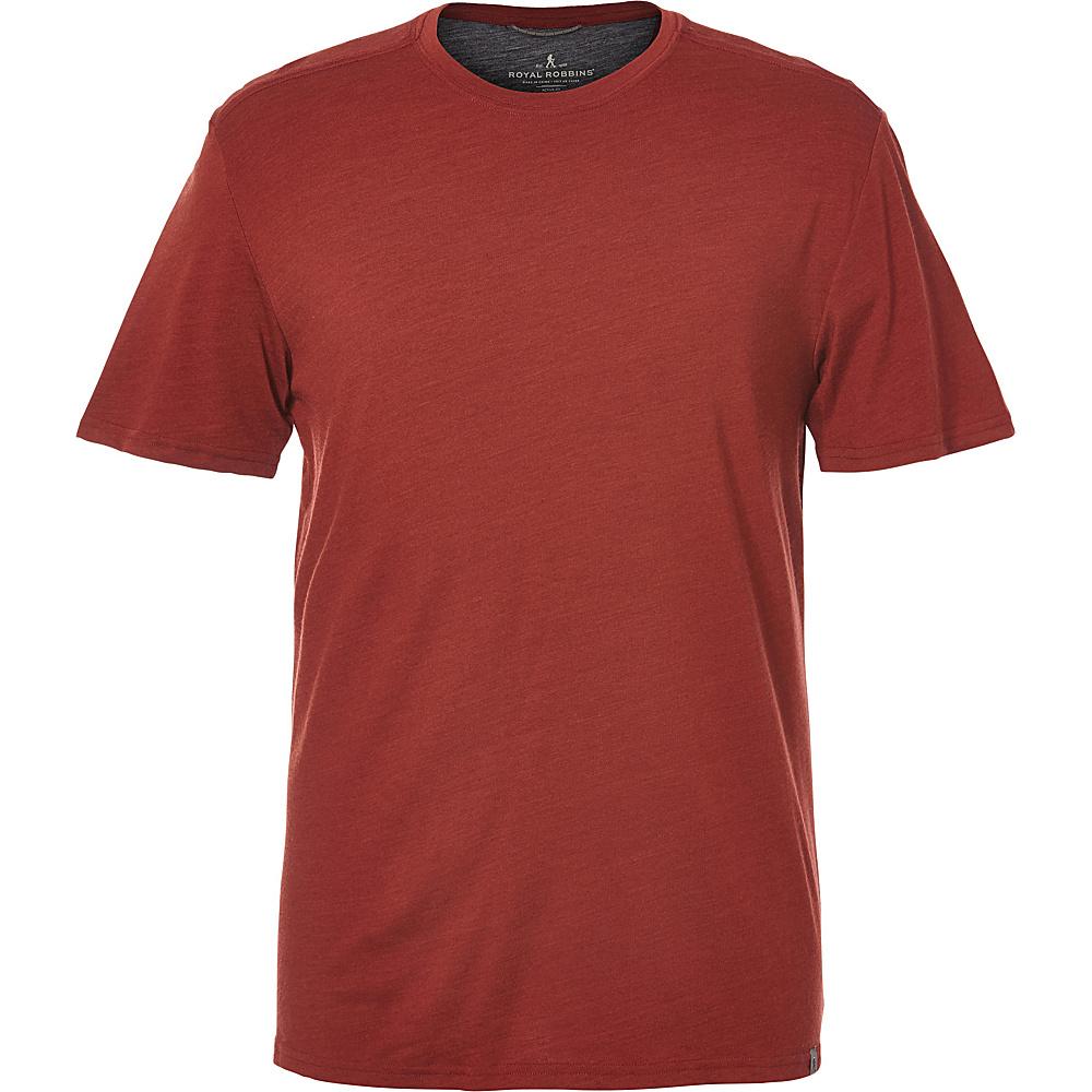 Royal Robbins Mens Merinolux Tee XL - Red Rock - Royal Robbins Mens Apparel - Apparel & Footwear, Men's Apparel