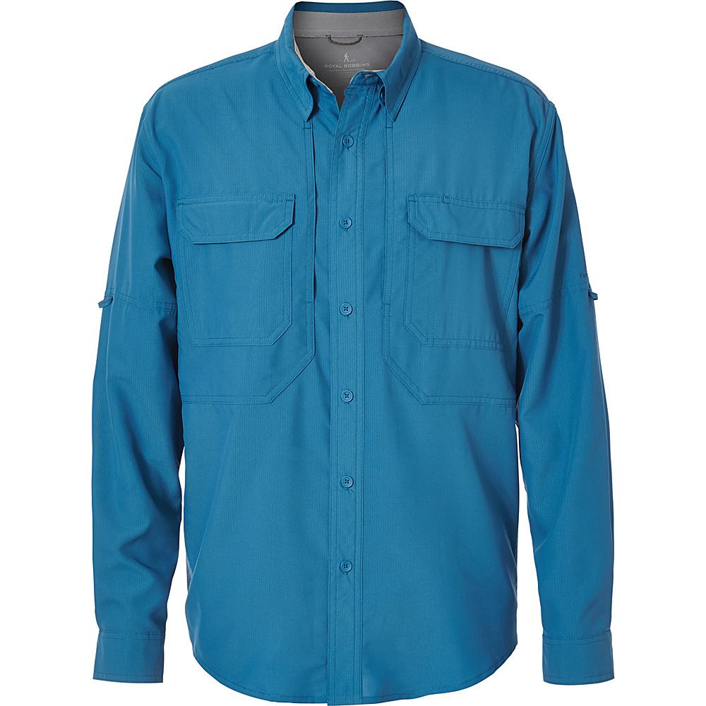 Royal Robbins Mens Expedition Chill Long Sleeve Shirt S - Light Glacier Blue - Royal Robbins Mens Apparel - Apparel & Footwear, Men's Apparel