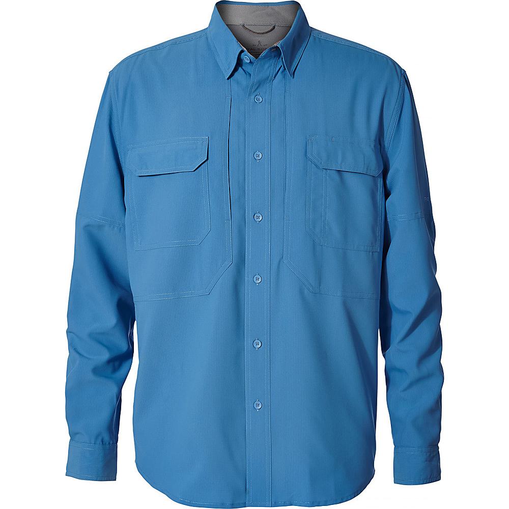 Royal Robbins Mens Expedition Chill Long Sleeve Shirt 3XL - Parisian Blue - Royal Robbins Mens Apparel - Apparel & Footwear, Men's Apparel