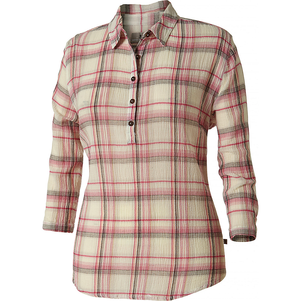 Royal Robbins Womens Oasis Plaid Popover XL - Creme - Royal Robbins Womens Apparel - Apparel & Footwear, Women's Apparel