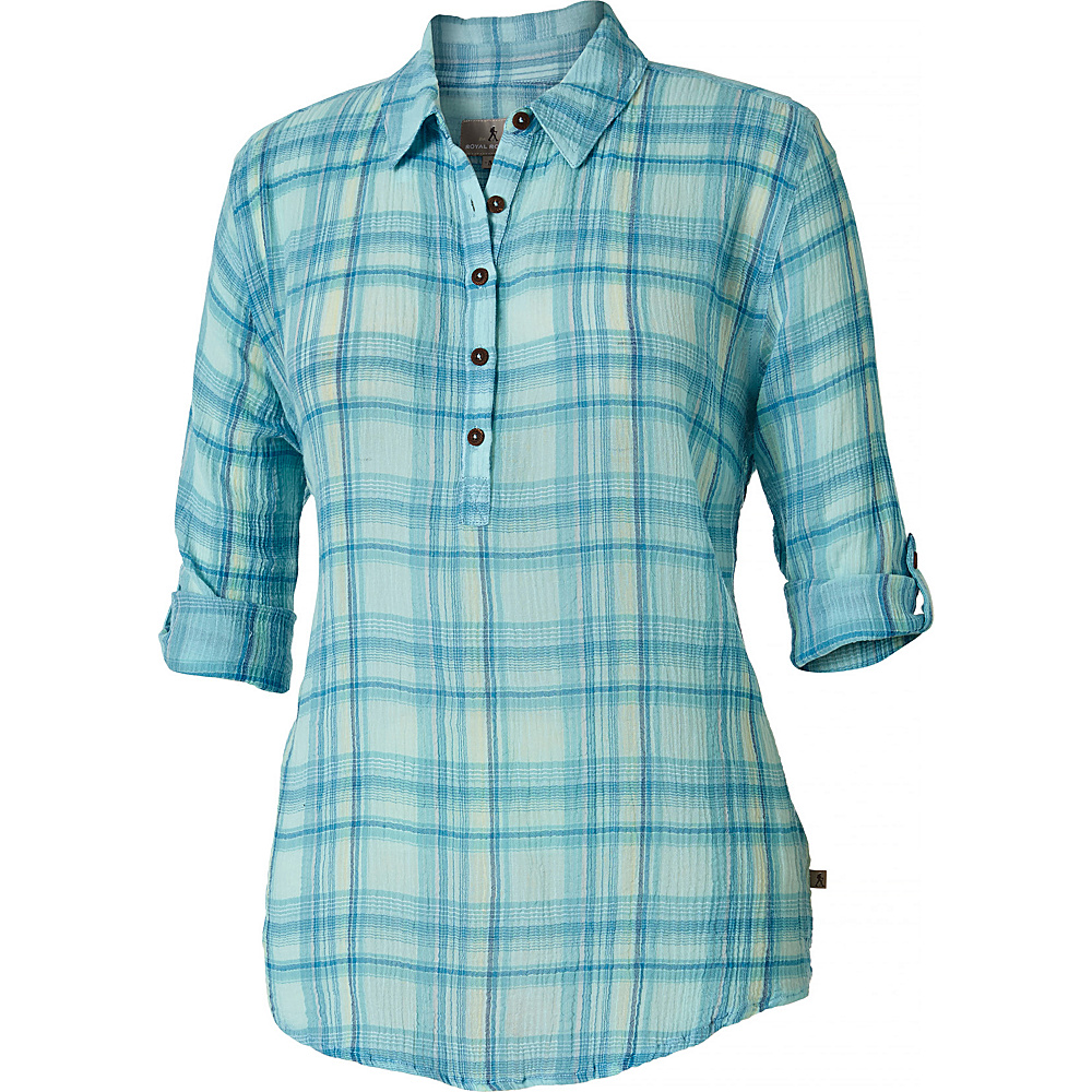 Royal Robbins Womens Oasis Plaid Popover S - Rainshower - Royal Robbins Womens Apparel - Apparel & Footwear, Women's Apparel