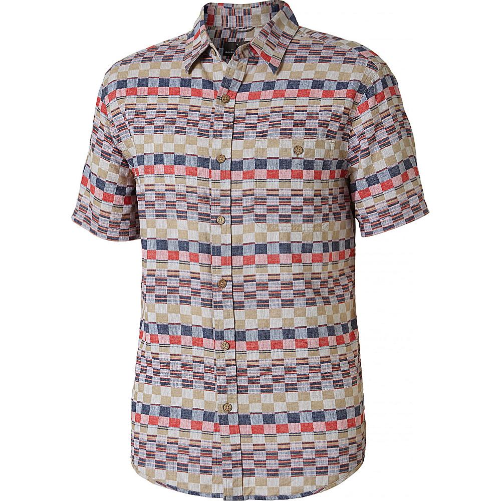 Royal Robbins Mens Slab City Dobby Short Sleeve Shirt S - Crimson - Royal Robbins Mens Apparel - Apparel & Footwear, Men's Apparel
