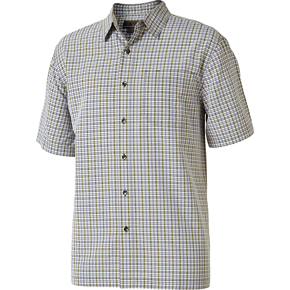 Royal Robbins Mens Mojave Pucker Plaid Short Sleeve Shirt S - Desert - Royal Robbins Mens Apparel - Apparel & Footwear, Men's Apparel