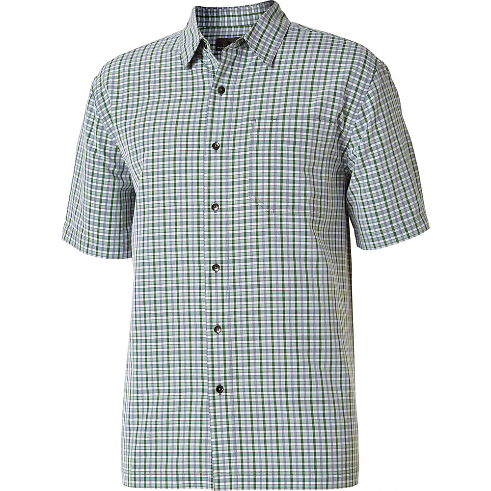 Royal Robbins Mens Mojave Pucker Plaid Short Sleeve Shirt L - Ivy - Royal Robbins Mens Apparel - Apparel & Footwear, Men's Apparel