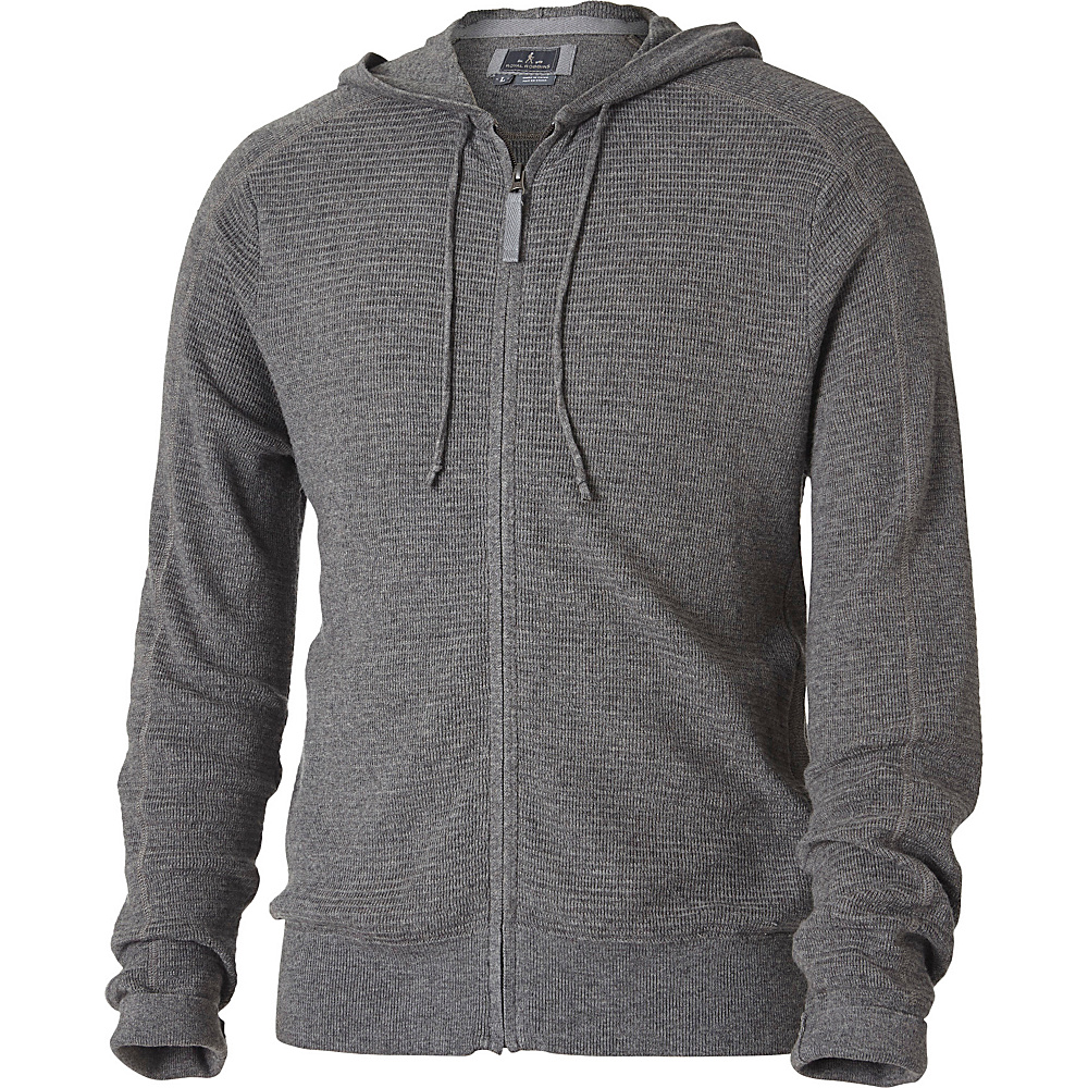 Royal Robbins Mens All Season Merino Thermal Full Zip S - Pewter - Royal Robbins Mens Apparel - Apparel & Footwear, Men's Apparel