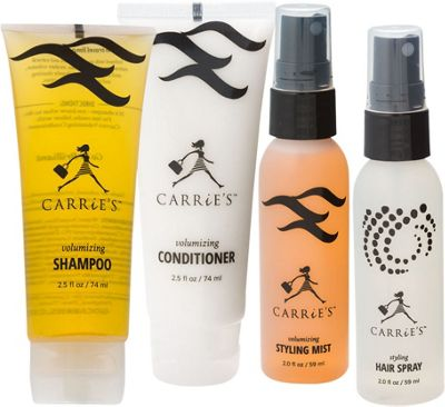 Carrie's TSA Approved- Travel Size Volumizing Hair Care Kit White - Carrie's Travel Comfort and Health